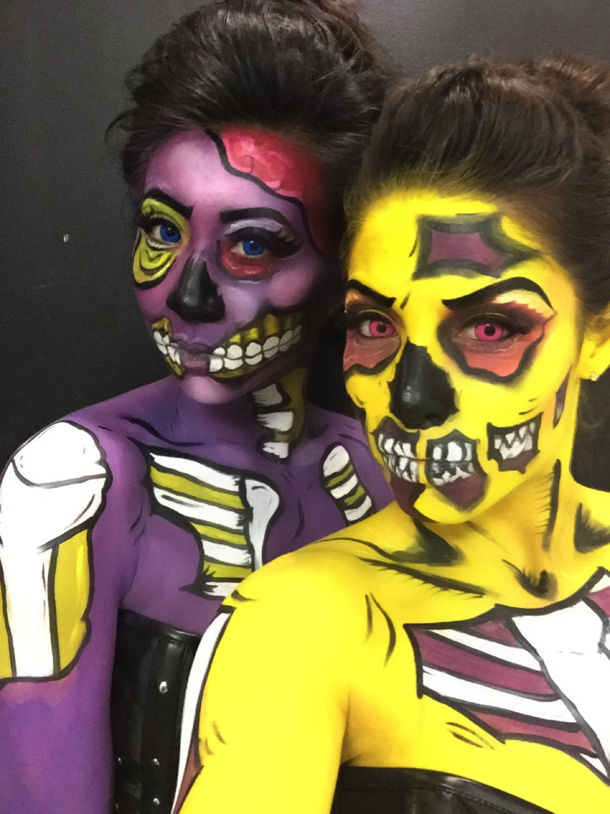 Pop Art Zombie Makeup