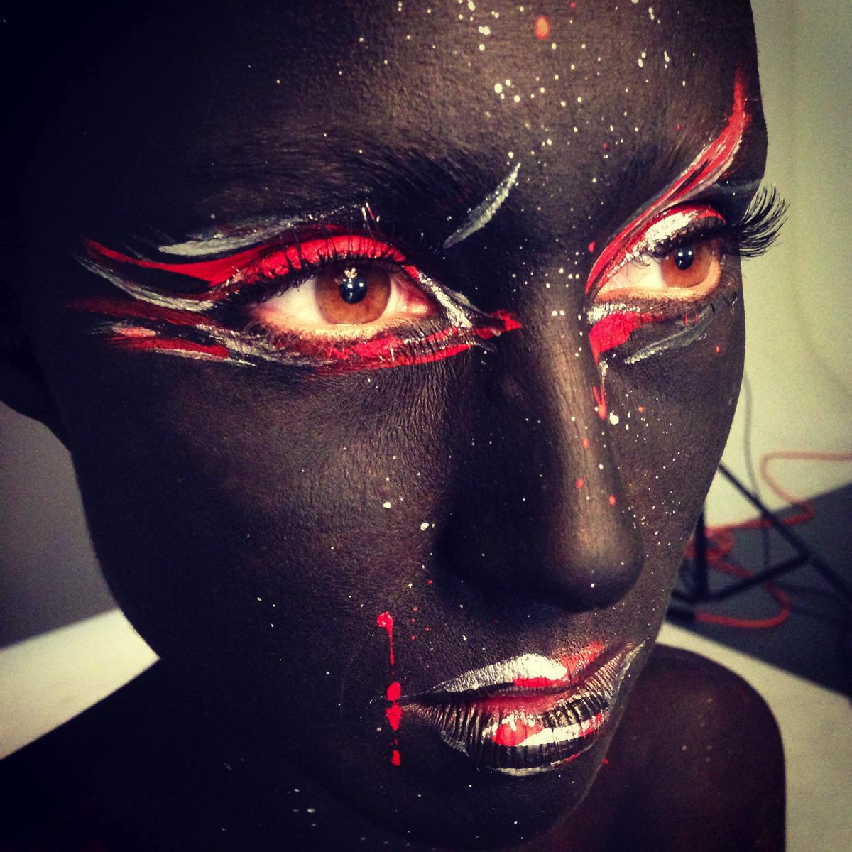 Black and Red BTS Makeup