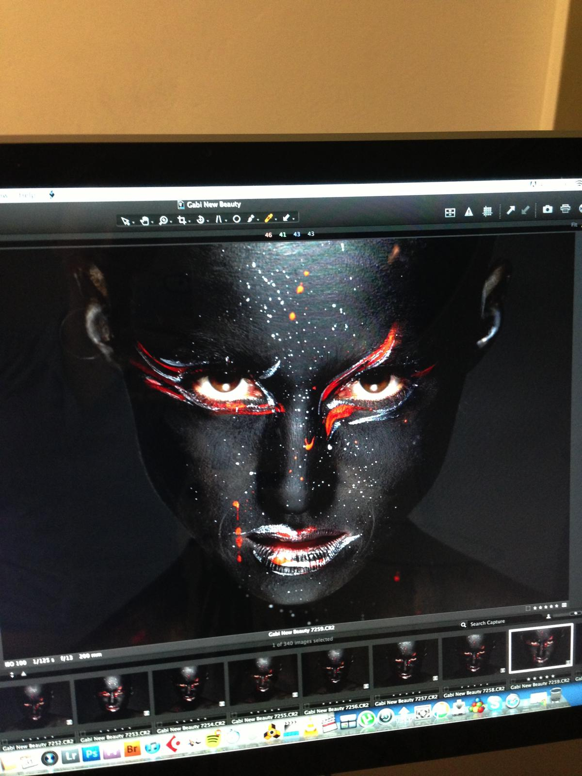 Black and Red Makeup