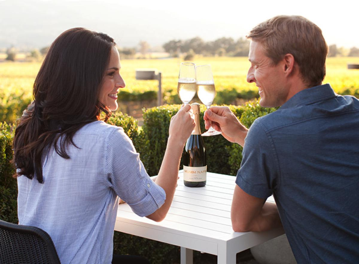 Mumm Winery Couple